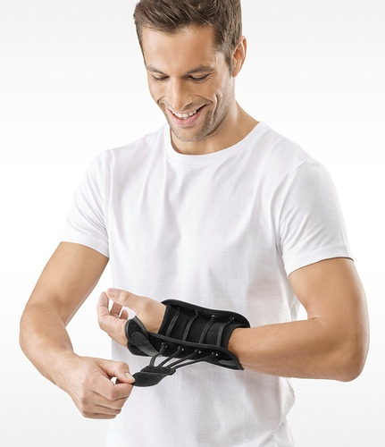 dynamics lace up wrist brace without thumb piece. Black Bedroom Furniture Sets. Home Design Ideas