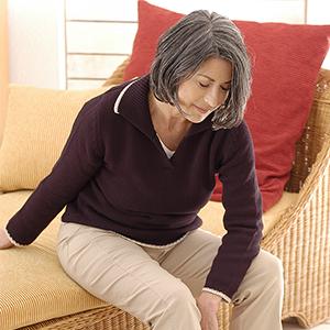 Osteoporose tritt häufig nach der Menopause auf.