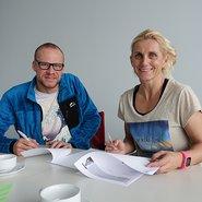 Yvonne van Vlerken und Per Bittner verlängern Sponsoring-Verträge mit Ofa Bamberg