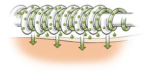 Mikrokapseln mit Aloe Vera und Vitamin E versorgen die Haut mit pflegenden Substanzen.