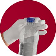 The anti-slip coating secures the grip. It can be attached to gloves on the palm and the fingers.