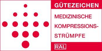 De RAL-keurmerken 387/1 en 387/2 garanderen de medische effectiviteit van medische compressiekousen