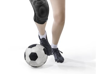 Footballers are particularly prone to ankle pain.
