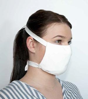 Textile Gesichtsmaske mit Bändern