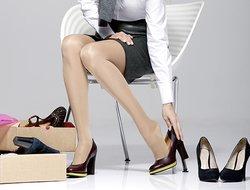 Stützstrümpfe in Schuhen tragen