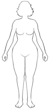A diagram of a woman.