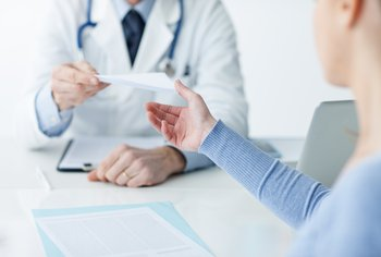 A document prescribes treatment to their patient.