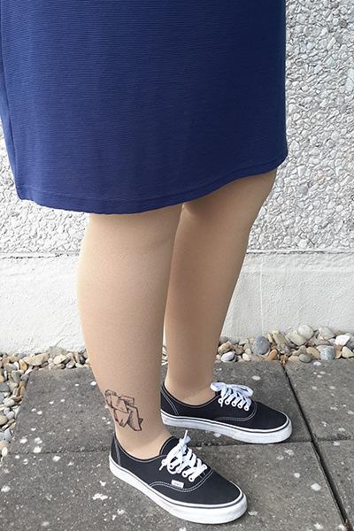 Lastofa Forte Sand met zelf ontworpen tattoo